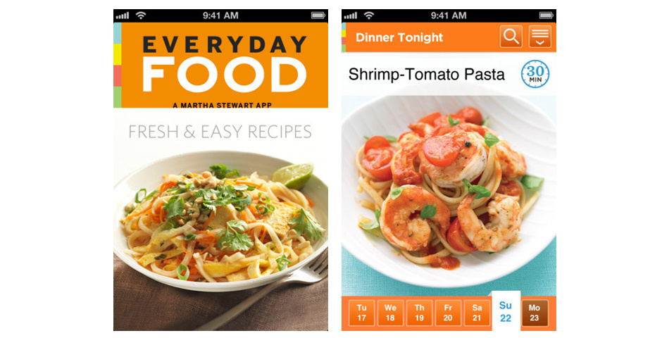 Webby Award Nominee - Martha\'s Everyday Food App for iPhone