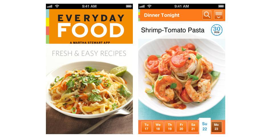 Webby Award Nominee - Martha\'s Everyday Food App for iPhone
