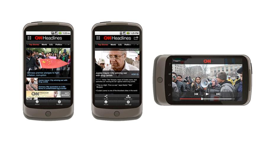 Webby Award Nominee - CNN Mobile