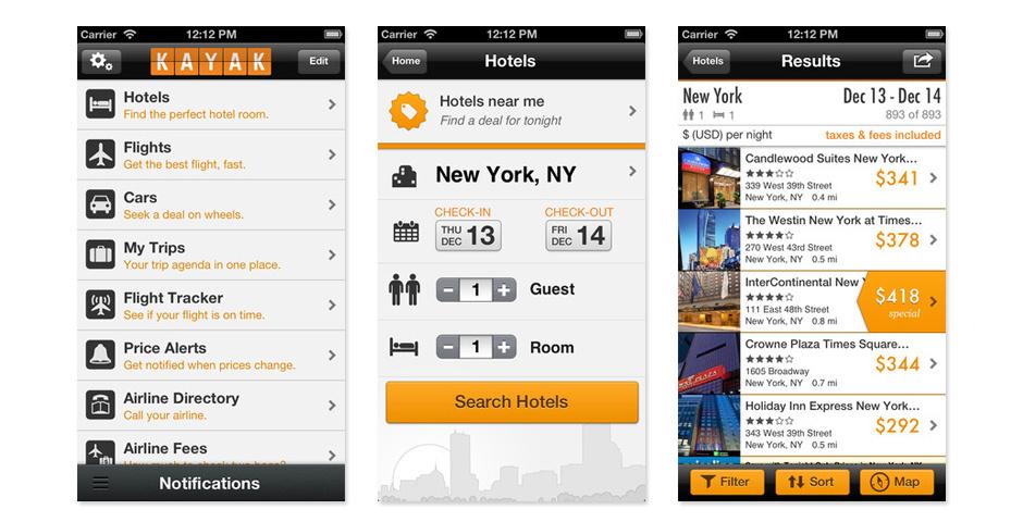 2011 Webby Winner - KAYAK Mobile for iPhone