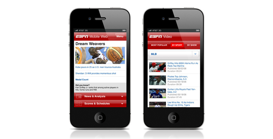 2011 Webby Winner - ESPN Mobile