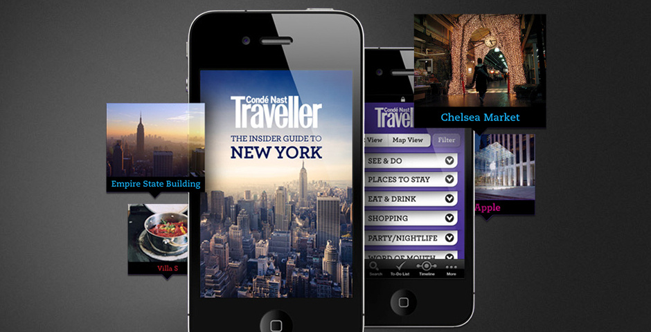 Webby Award Nominee - Conde Nast Traveller iPhone City Guides