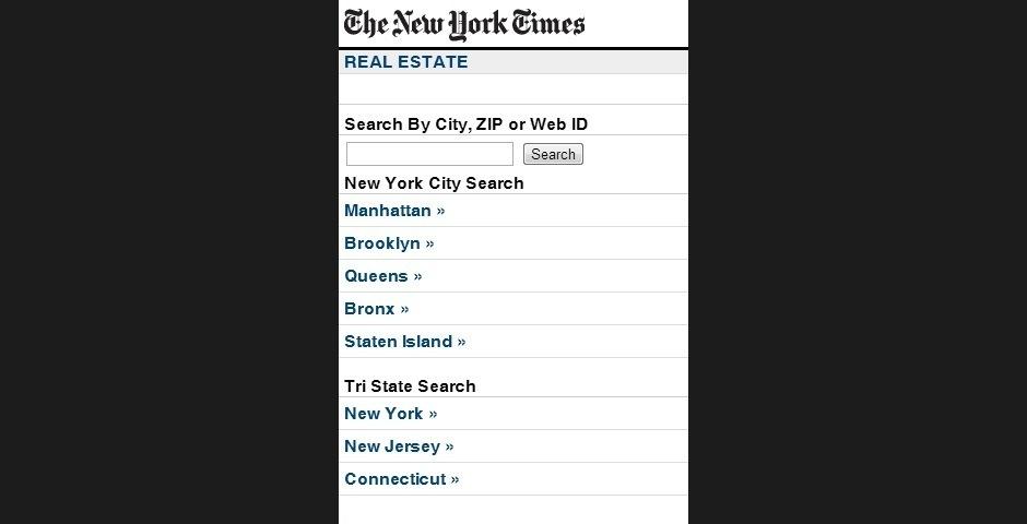 2008 Webby Winner - The New York Times Mobile Real Estate Listings