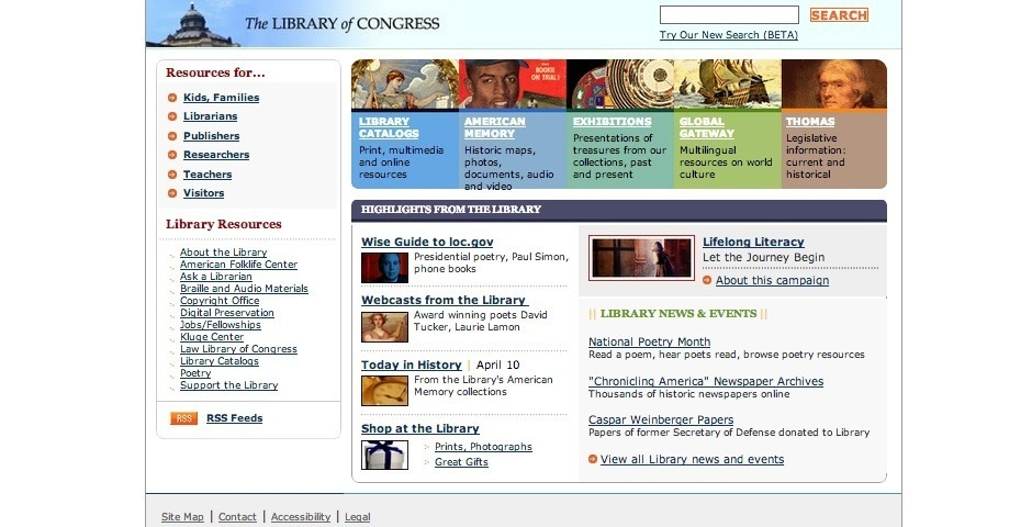 Webby Award Nominee - The LIbrary of Congress