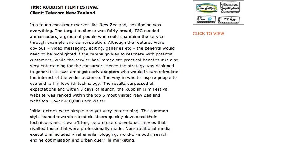 Nominee - Rubbish Film Festival
