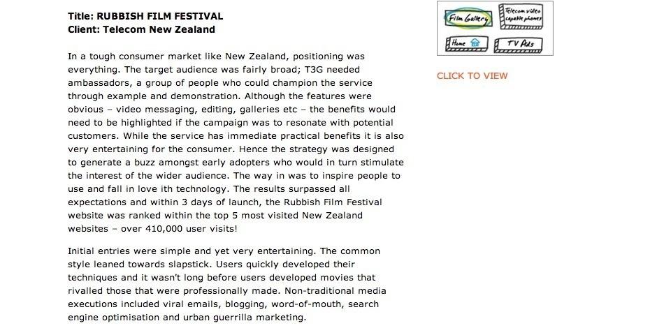 Webby Award Nominee - Rubbish Film Festival