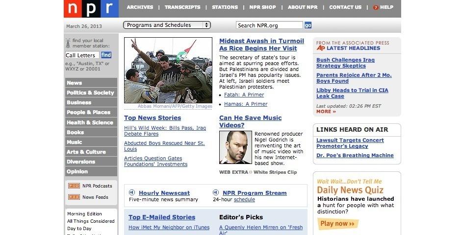 2007 Webby Winner - NPR.org