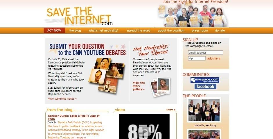 2007 Webby Winner - SaveTheInternet.com