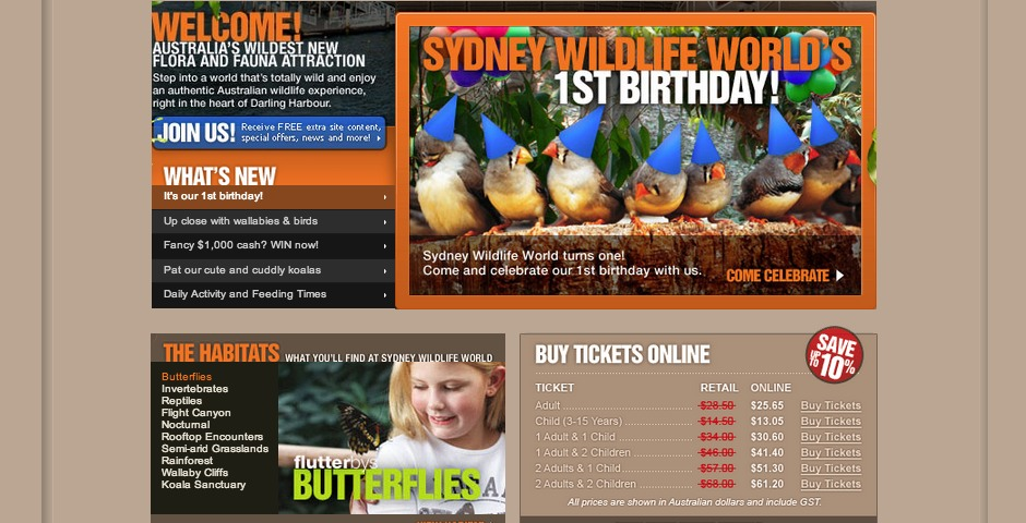 Nominee - Sydney Wildlife World