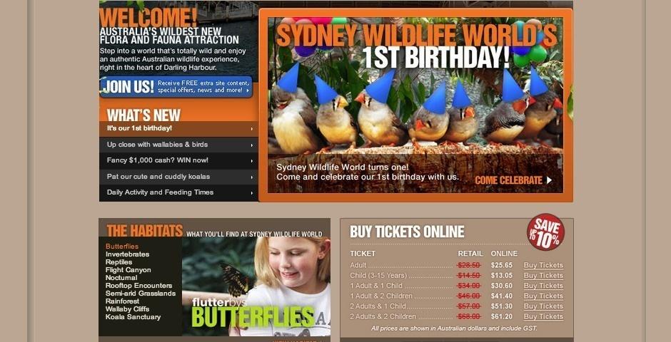 Webby Award Nominee - Sydney Wildlife World