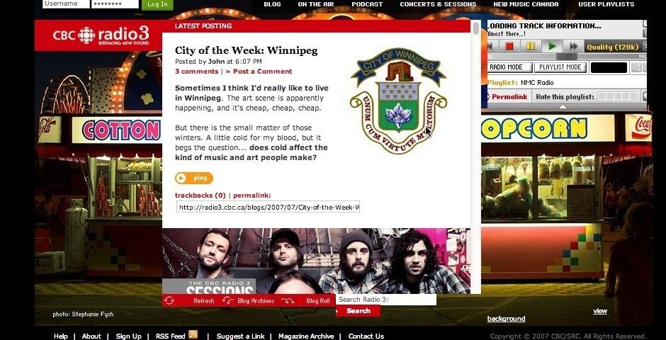 Webby Award Nominee - CBC Radio 3