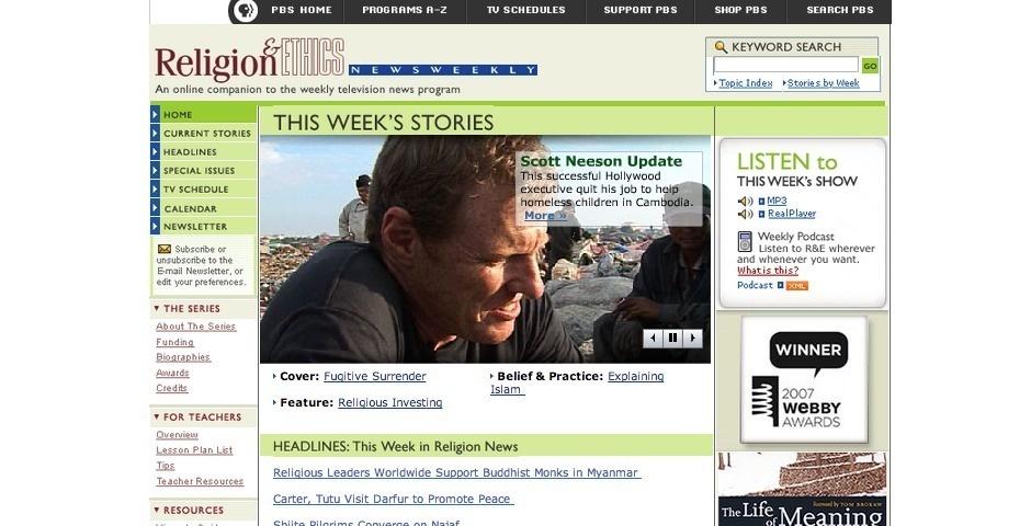 2007 Webby Winner - Religion & Ethics Newsweekly