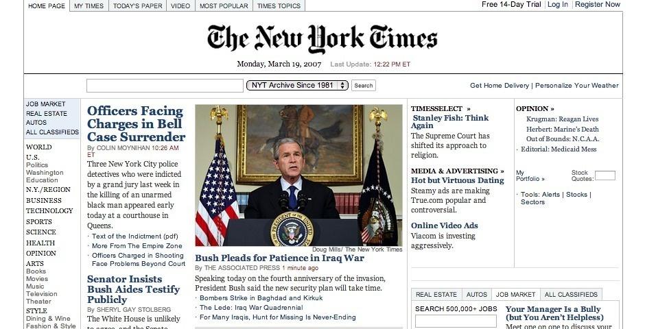 2007 Webby Winner - NYTimes.com