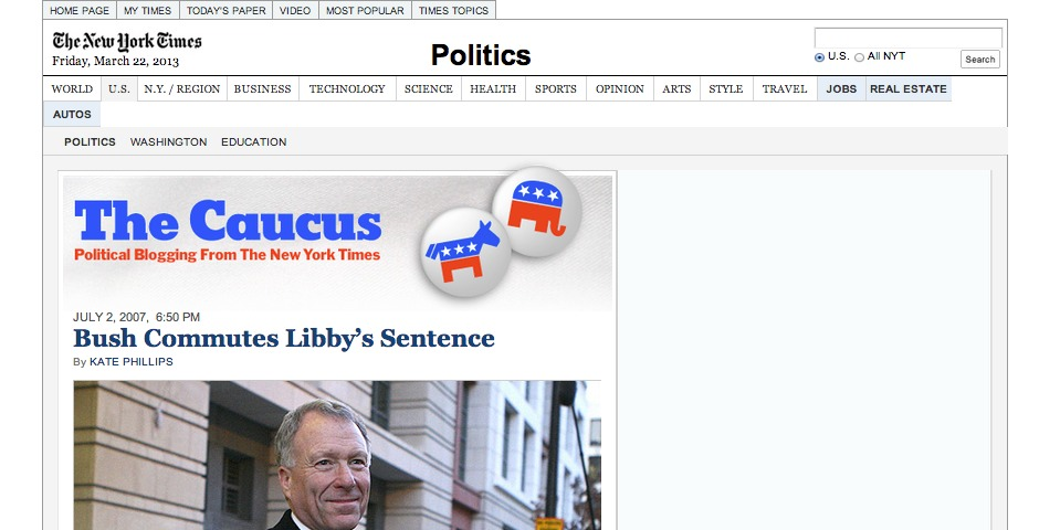 Nominee - The Caucus: Political Blogging from The New York Times