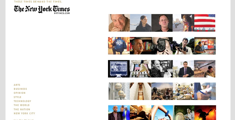 Nominee - The New York Times – These Times Demand The Times