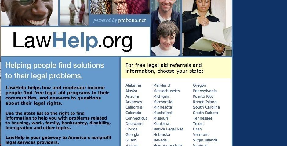 2007 Webby Winner - LawHelp.org