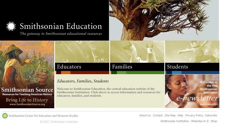 2007 Webby Winner - Smithsonian Education