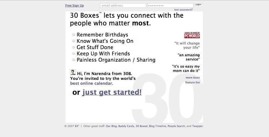 Webby Award Nominee - 30 Boxes