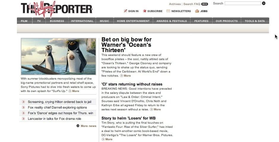 Webby Award Nominee - The Hollywood Reporter