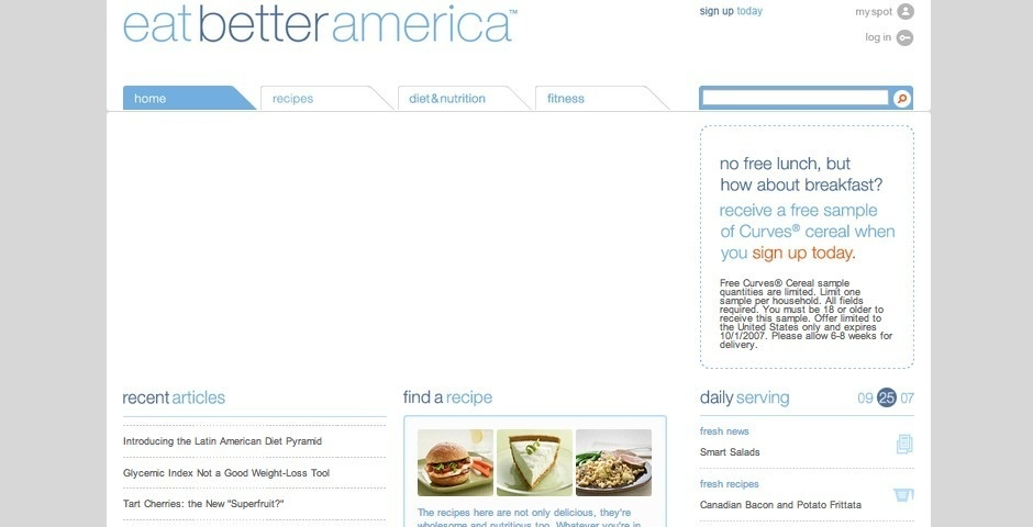 Webby Award Nominee - Eat Better America