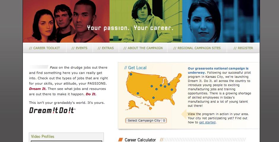 People's Voice - Dream It. Do It. Website