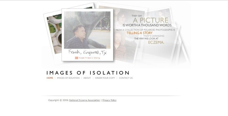 Webby Award Nominee - Images of Isolation