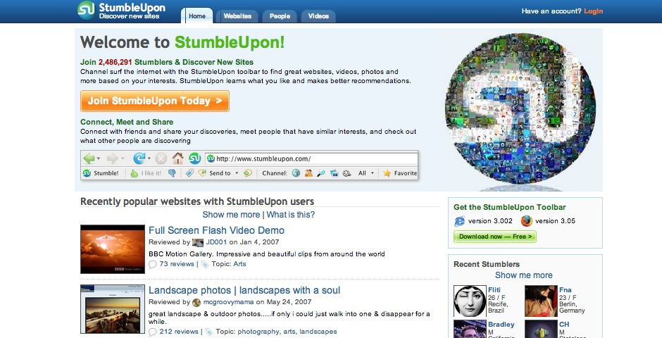 Nominee - StumbleUpon