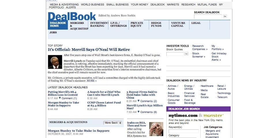 Webby Award Winner - DealBook