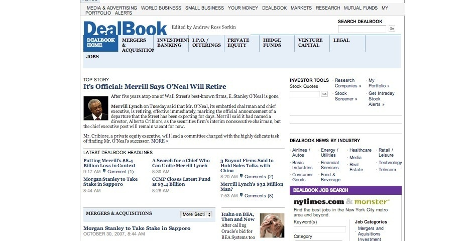2007 Webby Winner - DealBook