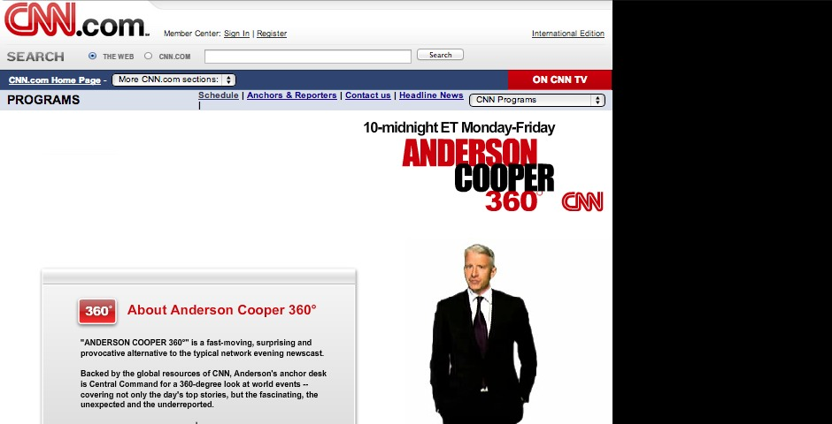 Nominee - Anderson Cooper Fan Site