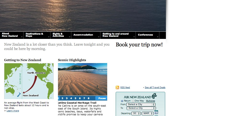Nominee - The Official Tourism New Zealand site for Destination New Zealand