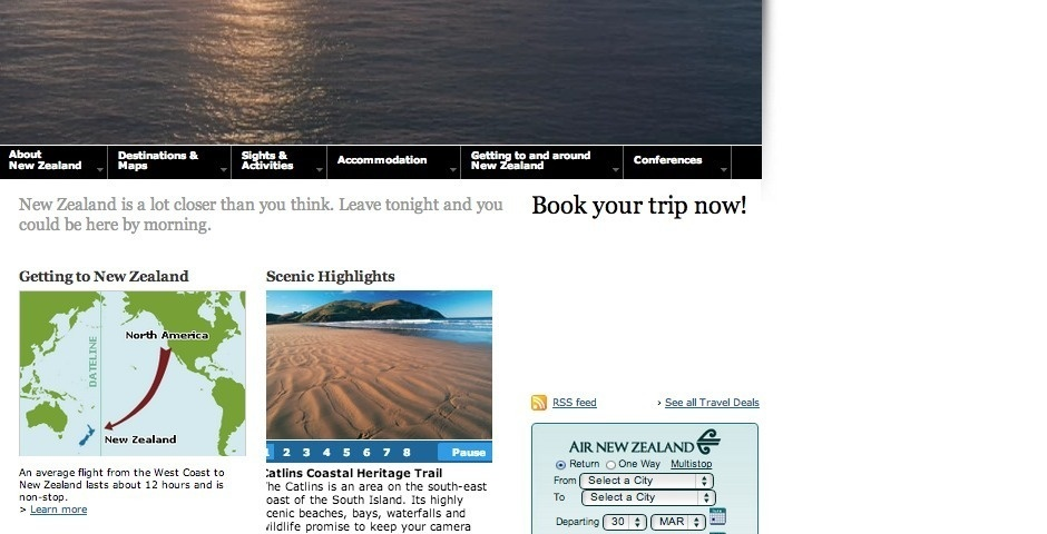 Webby Award Nominee - The Official Tourism New Zealand site for Destination New Zealand