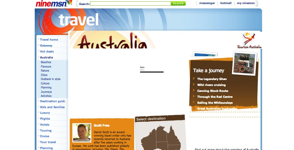 "Nominee - Tourism Australia ""Travel Australia"""