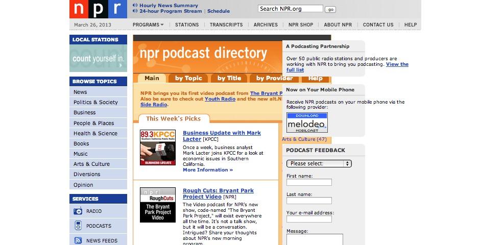 People's Voice / Webby Award Winner - NPR Podcasts