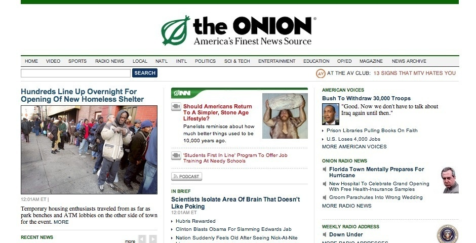 2007 Webby Winner - The Onion