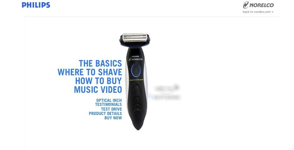 Webby Award Nominee - Philips Norelco Bodygroom