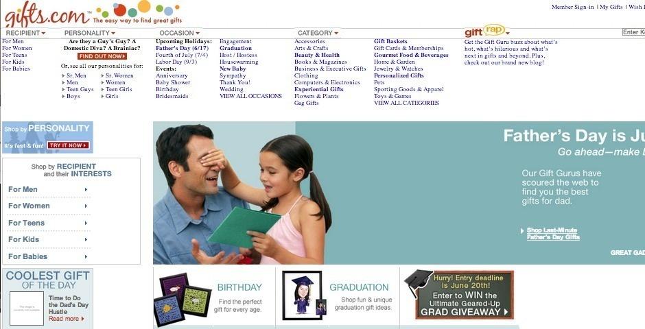 2007 Webby Winner - Gifts.com