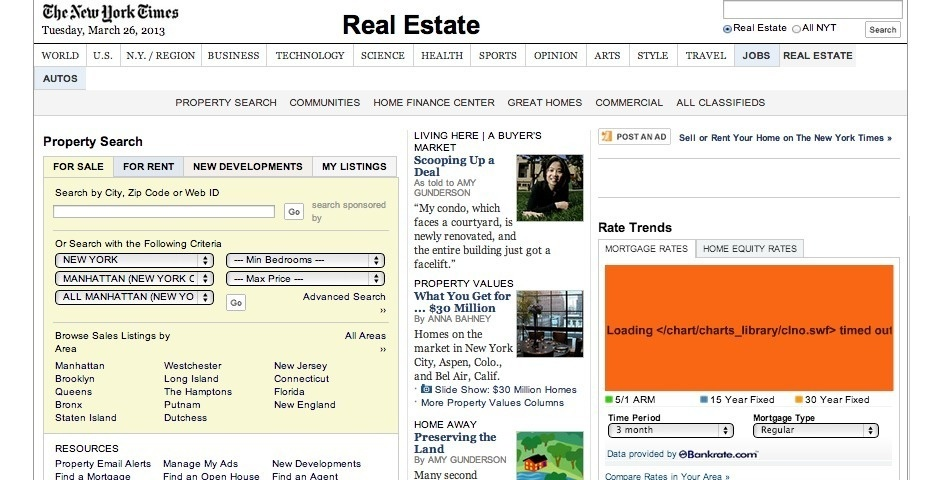 Webby Award Nominee - NY Times Real Estate