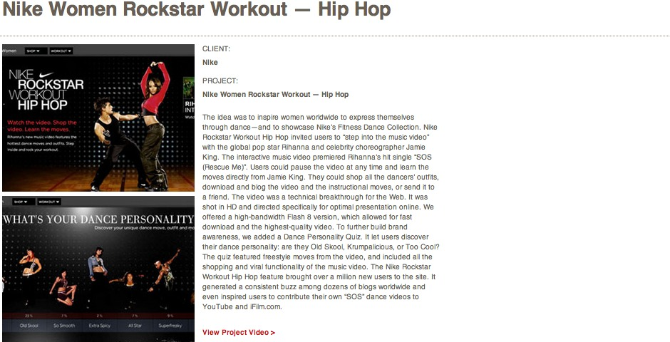Nominee - Nike Women Rockstar Workout — Hip Hop
