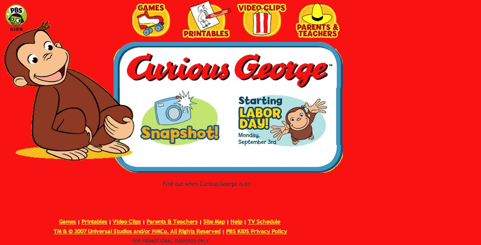 Honoree - Curious George