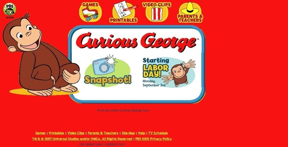 Webby Award Nominee - Curious George