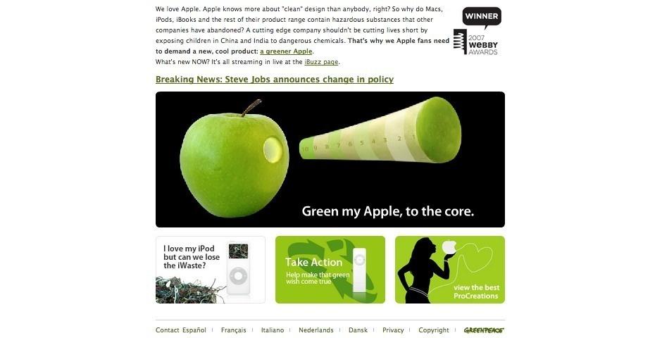 2007 Webby Winner - Green my Apple