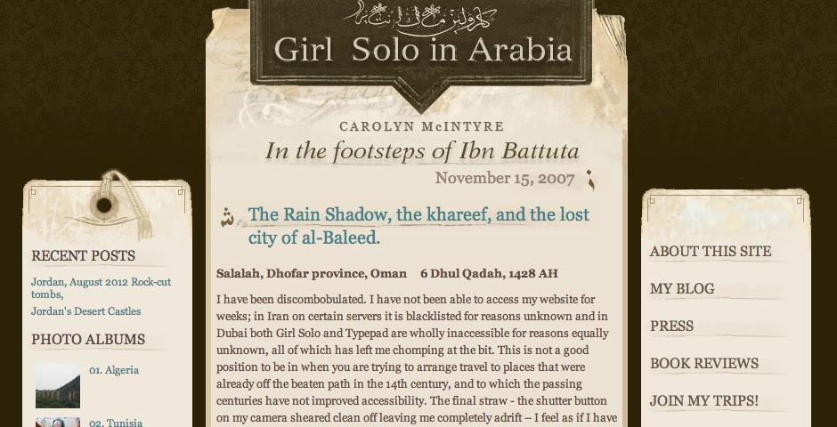 Nominee - Girl Solo In Arabia
