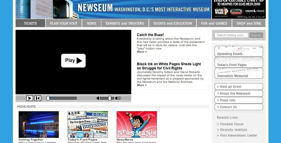 Webby Award Nominee - The Newseum