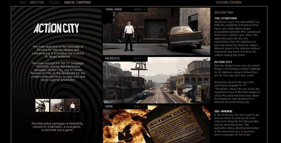 Webby Award Nominee - Action City