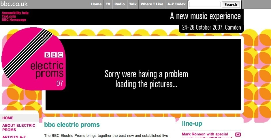 Webby Award Nominee - BBC Electric Proms