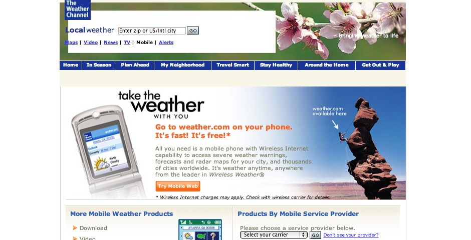 Nominee - The Weather Channel Mobile Web