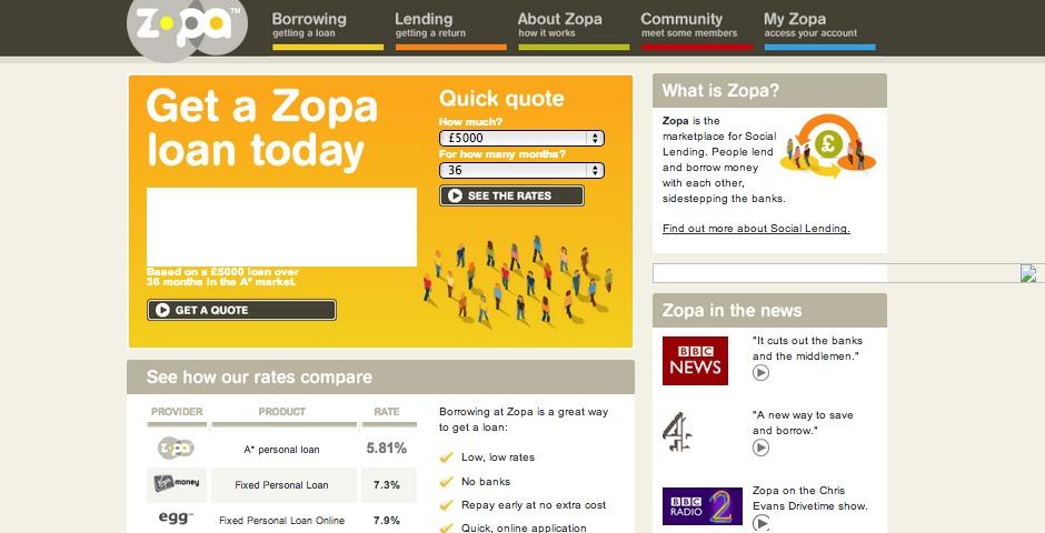 Webby Award Winner - Zopa