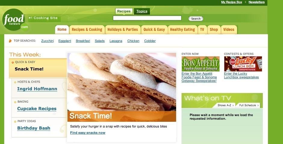 Webby Award Nominee - FoodNetwork.com