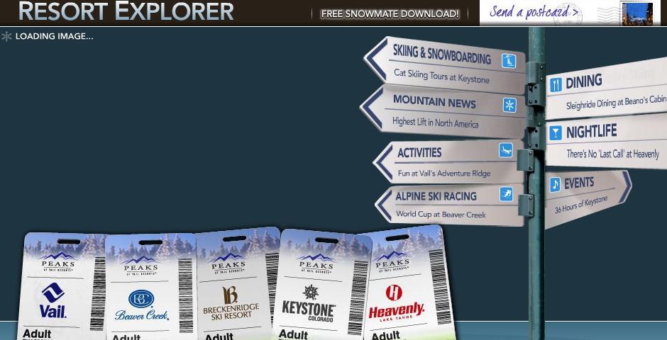 Nominee - Vail Resorts: Resort Explorer